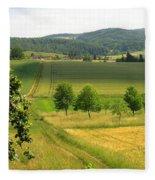 Photograph Of A Field In Germany Fleece Blanket
