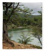 Picturesque Laguna Verde, Tierra Del Fuego National Park, Ushuaia, Argentina Fleece Blanket