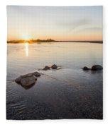 Platte River At Dusk Fleece Blanket