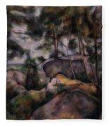Rocks In The Forest  Fleece Blanket