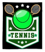 Tennis Player Tennis Racket I Love Tennis Ball Fleece Blanket
