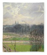 The Garden Of The Tuileries On A Winter Afternoon  Fleece Blanket