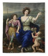 The Marquise De Seignelay And Two Of Her Sons  Fleece Blanket