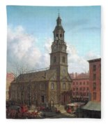 The North Dutch Church  Fulton And William Streets  New York  Fleece Blanket