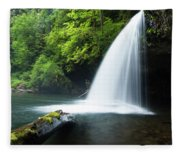 Waterfall In A Forest, Samuel H Fleece Blanket