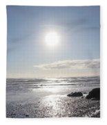 Ruby Beach Sunshine Fleece Blanket
