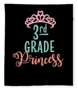 3rd Grade Princess Adorable For Daughter Pink Tiara Princess Fleece Blanket