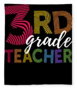 3rd Grade Teacher Light Fleece Blanket