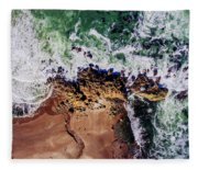 Aerial View Of The Beach, Newport Fleece Blanket