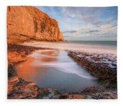 Dancing Ledge - England Fleece Blanket