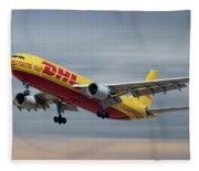 Dhl Airbus A300-f4 Fleece Blanket