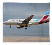 Eurowings Airbus A319-112 Fleece Blanket