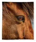 Icelandic Horse Fleece Blanket
