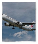 Japan Airlines Boeing 767-346 Fleece Blanket