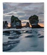 Motukiekie Beach - New Zealand Fleece Blanket