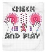 Naughty Breast Cancer Awareness Art For Women Light Fleece Blanket