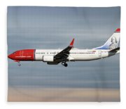 Norwegian Boeing 737 Max 8 Fleece Blanket
