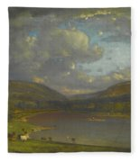 On The Delaware River Fleece Blanket