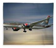 Royal Jordanian Boeing 787-8 Dreamliner Fleece Blanket
