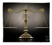 Scales Of Justice Dramatic Fleece Blanket