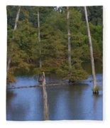 Tennesse Cypress In Wetland  Fleece Blanket