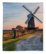 Wilton Windmill - England Fleece Blanket