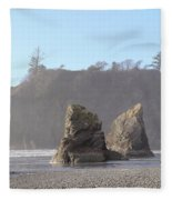 Ruby Beach Sunshine Fleece Blanket