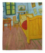 Bedroom In Arles Fleece Blanket