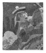 Detail From Sgt. Pepper's Mug Head Fleece Blanket