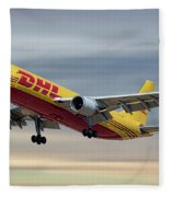 Dhl Airbus A300-f4 Fleece Blanket