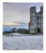 Donnington Castle - England Fleece Blanket