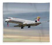Iberia Regional Bombardier Crj-1000 Fleece Blanket