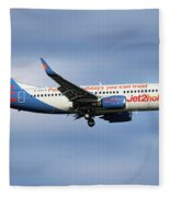 Jet2 Boeing 737-33v Fleece Blanket