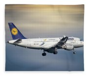 Lufthansa Airbus A319-114 Fleece Blanket