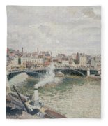 Morning  An Overcast Day  Rouen  Fleece Blanket
