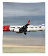 Norwegian Boeing 737 Max 8 Fleece Blanket