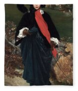 Portrait Of May Sartoris Fleece Blanket