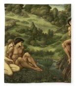 The Garden Of Pan Fleece Blanket