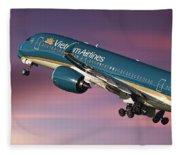 Vietnam Airlines Airbus A350 Fleece Blanket