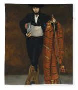Young Man In The Costume Of A Majo  Fleece Blanket