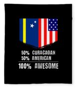 50 Curacaoan 50 American 100 Awesome Fleece Blanket