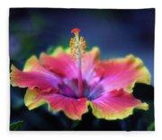 Hibiscus Delight Fleece Blanket