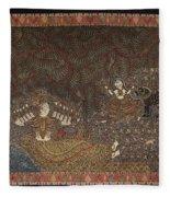 Mata Ki Pachedi Fleece Blanket