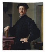 Portrait Of A Young Man  Fleece Blanket