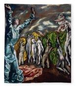 The Vision Of Saint John  Fleece Blanket