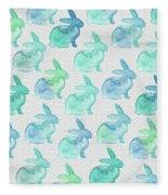 Watercolor Bunnies 1i Fleece Blanket