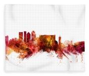 Cape Town South Africa Skyline Fleece Blanket