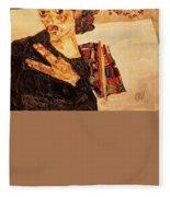 Self Portrait  Fleece Blanket