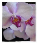 7195-orchids Fleece Blanket