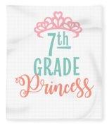 7th Grade Princess Adorable For Daughter Pink Tiara Princess Fleece Blanket
